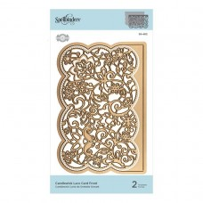 Spellbinders - Candlewick Lace Card Front Etched Die