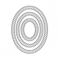 Spellbinders - Elegant Twist Ovals Etched Dies