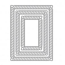 Spellbinders - Elegant Twist Rectangles Etched Dies
