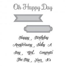 Spellbinders Die - Oh Happy Day