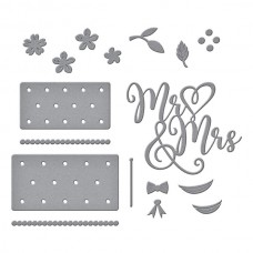 Spellbinders - Mr & Mrs Wedding Cake Etched Dies