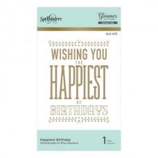 Spellbinders Glimmer Hot Foil Plate Happiest Birthday