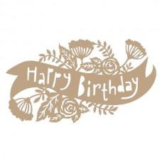 Spellbinders Glimmer Hot Foil Plate Birthday Banner