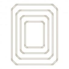 Spellbinders Glimmer Hot Foil Plate Gilded Nested Rectangle Glimmer