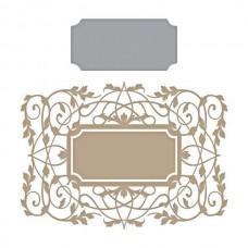 Spellbinders Glimmer Hot Foil Plate Gilded Vines Vintage Frame