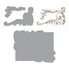 Spellbinders Glimmer Hot Foil Plate Gilded Leaves Shaped Panel