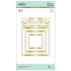 Spellbinders Glimmer Hot Foil Plate - Crowned Rimmed Squares