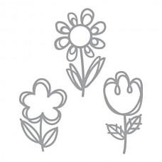 Spellbinders Die D-Lites Sketched Blooms