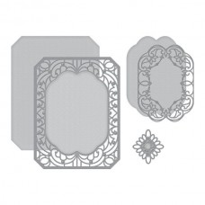 Spellbinders Cannetille Rectangle Etched Dies