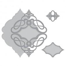 Spellbinders Marquise Diamond Pendant Etched Dies