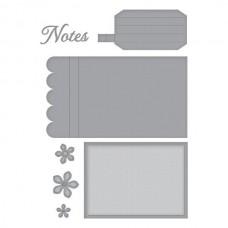 Spellbinders Adorned Notepad Etched Dies
