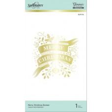 Spellbinders Glimmer Hot Foil Plate - Merry Christmas Banner