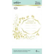 Spellbinders Glimmer Hot Foil Plate - Holiday Stationery and Envelope Corner