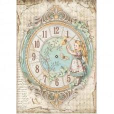 Stamperia - Alice - A4 Rice Paper - Alice Clock