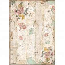 Stamperia - Alice - A4 Rice Paper - Wall Texture