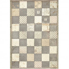 Stamperia - Alice - A4 Rice Paper - Chessboard