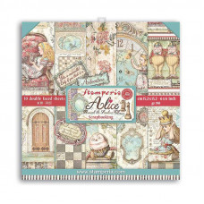 Stamperia - Alice - Scrapbooking Pad 6x6 - Looking Glass