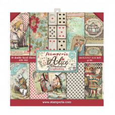 Stamperia - Alice - Scrapbooking Pad 6x6 - Wonderland