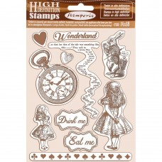 Stamperia - Alice - HD Natural Rubber Stamp - Alice