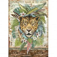 Stamperia - Amazonia - A4 Rice Paper - Jaguar