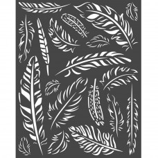 Stamperia - Amazonia - Thick Stencil - Feathers