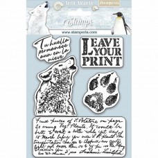 Stamperia HD Natural Rubber Stamp - Leave Your Print