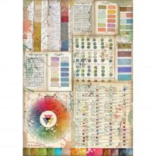 Stamperia - Atelier Des Arts - A4 Rice Paper - Pantone Charts