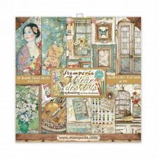 Stamperia - Atelier Des Arts - 8x8 Scrapbooking Paper Pad