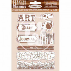 Stamperia - Atelier Des Arts - Natural Rubber Stamp - Art