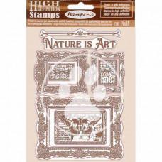 Stamperia - Atelier Des Arts - Natural Rubber Stamp - Nature Is Art Frames