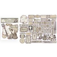 Stamperia - Calligraphy - Assorted Die Cuts