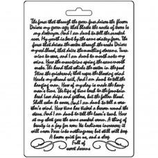 Stamperia - Calligraphy - A5 Soft Mould - Manuscript