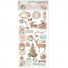 Stamperia - Pink Christmas - Chipboard