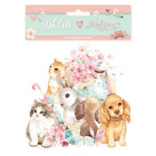 Stamperia - Circle Of Love - Cats, Dogs and Embellishments - Assorted Die Cuts