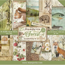 Stamperia - Forest - 8x8 Scrapbooking Paper Pad