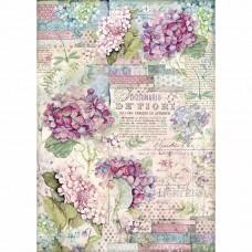 Stamperia - Hortensia - A3 Rice Paper - Hortensia