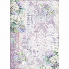 Stamperia - Hortensia - A3 Rice Paper - Hortensia Wallpaper
