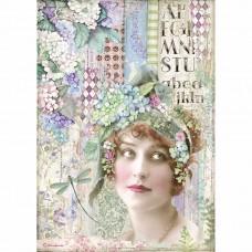 Stamperia - Hortensia - A4 Rice Paper - Lady