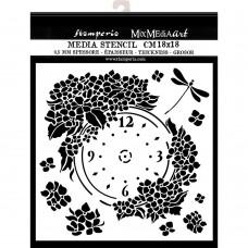 Stamperia - Hortensia - Thick Stencil Clock