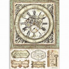 Stamperia - Lady Vagabond - A4 Rice Paper - Clock With Mechanisms
