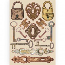 Stamperia A5 Coloured Frame – Lady Vagabond Locks And Keys