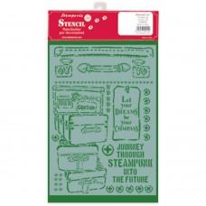 Stamperia - Lady Vagabond - G Stencil - Luggage