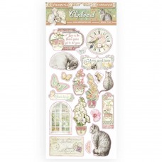 Stamperia - Orchids and Cats - Chipboard