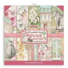 Stamperia - Orchids and Cats - 12x12 Scrapbooking Paper Pad