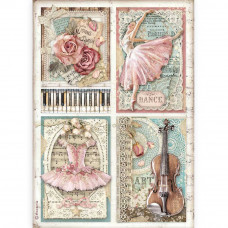 Stamperia - Passion - A4 Rice Paper - Cards