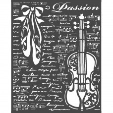 Stamperia - Passion - Thick Stencil - Violin
