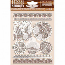 Stamperia - Passion - Natural Rubber Stamp - Lace
