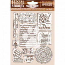 Stamperia - Passion - Natural Rubber Stamp - Music