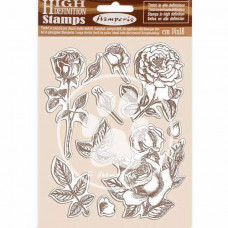 Stamperia - Passion - Natural Rubber Stamp - Rose