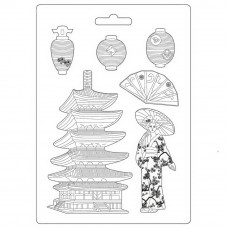 Stamperia - Sir Vagabond Japan - A4 Soft Mould Pagoda